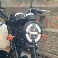 7.4 Pollici Moto Rotonda LED Halo Lampadina Del Faro Proiettore Per Harley