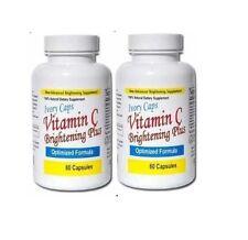 Ivory Caps Natural Skin Whitening Vitamin C Brightening Plus Pills (pack of 2)