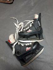 Vintage Micron Mascot Hockey Skates Yth Size 11 Used