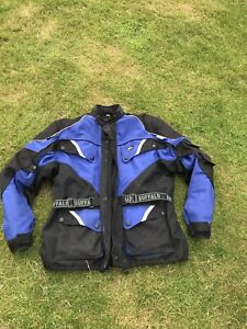 "Buffalo textile motorcycle jacket blue and black 50"""