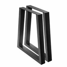 Artiss 71x45x65cm Trapezoid Table Leg - Matt Black, Pack of 2