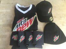 diet Mtn Dew BLK SZ S-M COTTON & SPAN HAT,SZ SM T-SHIRT,4 GLASS COOLERS,WOOL HAT