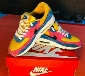 AIR MAX 90s - YELLOW, BLUE, PINK - SIZE 10.5