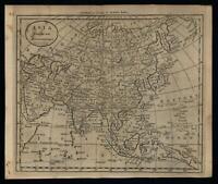 Asia Arabia India China 1796 Amos Doolittle scarce American engraved map