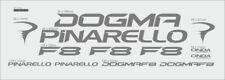 PINARELLO DOGMA F8 CUSTOM MADE FRAME DECAL SET SILVER