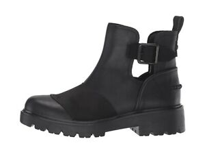 UGG Stockton Combat Inspired Leather Boot Color: Black Size US 9 Style: W/110374