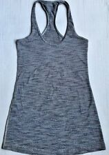 LULULEMON CRB COOL RACERBACK Tank Top Reversible Black Wee Stripe sz 4 Long EUC