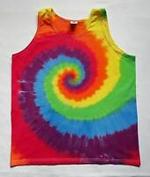 Tie Dye Mens Vest Tank Top LGBTQ Gay Pride Parade Party Flag Gift RAINBOW Stag