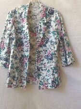 Women's Vintage Open Front Floral Blazer Jacket, The Season Ticket, Small, Usa