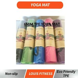 6MM TPE 2 Side Color Pilate Yoga Gym Mat Non Slip ECO Friendly Fitness Training
