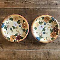 """Oneida Sunset Bouquet Dinner Plate Kitchen Floral 10-3/4"""" Diameter Set of 2"""