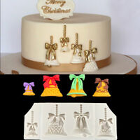 Fondant Cake Chocolate Mold - Xmas Bell Shape Biscuit Mould -Food Grade Silicone
