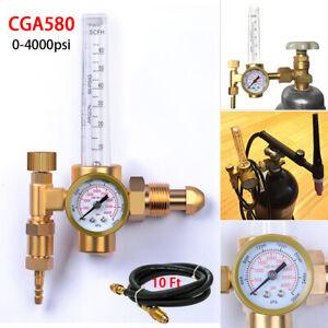 Mig Tig Flow meter Regulator Welding Gas Gauge w Hose Argon/CO2, Helium,Nitrogen