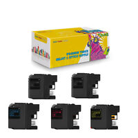2 x LC201 BK XL + CMY Compatible Ink Cartridge for Brother MFC-J460DW J480DW