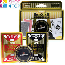 2 Decks Pokerkarten Texas Hold'em Jumbo 100% Plastik Poker Karte Schutz 1 Rot 1