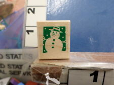 snowman Christmas Winter Rubber Stamp 12G
