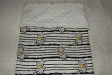 Pooh  Cotton Front White Minky Bassinet/Crib Blanket Handmade