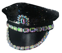 Bride to Be Flip Sequin Iridescent Jeweled Music Festival Captain Pride Hat