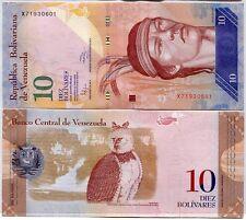 VENEZUELA 10 BOLIVARES 2014 P 90 NEW DATE UNC