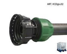 """RACCORDO  PER CISTERNA  USCITA  3/4"""" + RACCORDO COMPRESSIONE TUBO 32 mm KCDgiu32"""