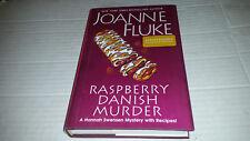 Raspberry Danish Murder by Joanne Fluke (2018, Hardcover) SIGNED 1st/1st