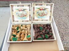 Vintage Allan Troy Chess Set--Allan Troy India Set #1! HANDMADE,  ONLY FOR TROY!