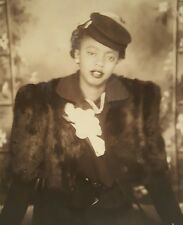 VINTAGE AFRICAN AMERICAN BEAUTY FASHION BLACK WOMAN VERNACULAR PHOTOGRAPHY PHOTO