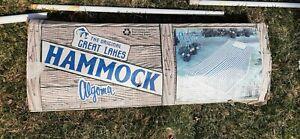 VINTAGE Great Lakes Algoma Heavy STEEL Stand Complete Hammock Set USA made