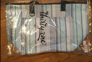 Thirty-One_New Totally Thermal Tote_in Boardwalk Stripes new in package
