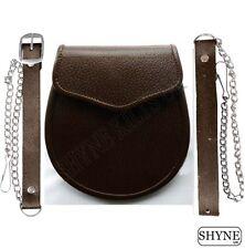 Kilt Daywear REGIMENTAL stile semplicistico Sporran in marrone in pelle per kilt