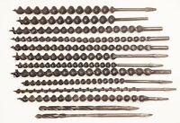 "Vtg antique barn beam timber frame auger bore drill bit lot 1 1/16"" 11/16"" 15/16"