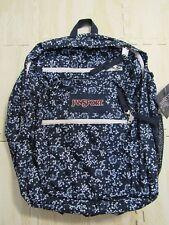 JanSport Big Student Navy Blue Floral Field Unisex Backpack JS00TDN750E