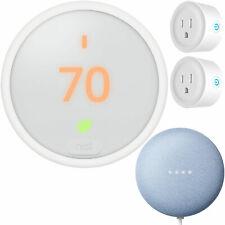 Nest Termostato de aprendizaje T4000ES e, Blanco Paquete con Google Casa Mini