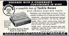 1958 Print Ad Waterloo Metal Fishing Tackle Boxex Waterloo,Iowa