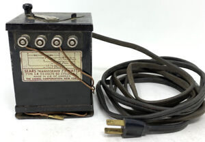 1930's Lionel Train Transformer Type W 75 Watts 115 Volts 60 Cycles A.C. Sears