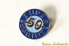 "VESPA Pin / Anstecker ""Super Sprint 50"" - SS SS50 V50 50N Blau Piaggio Retro"