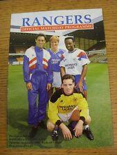 11/08/1990 Rangers v Dynamo Kiev [Friendly] . Good condition unless previously s