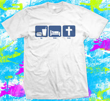 Christian lifestyle-eat sleep jésus-t shirt