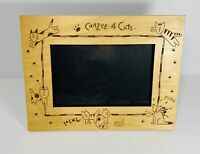 Kathy Davis Collection~CrAzEe 4 Cats 🐈 Laser Craft~Wooden Cat Phot Frame 4 X 6