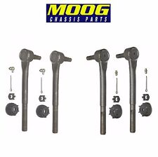 For Buick ChevY Oldsmobile Pontiac Set of 2 Pairs Front Outer Tie Rod Ends Moog
