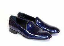 Emporio Armani Men's Shoes Shiny blue loafers 9 UK 10 US 43 NEW