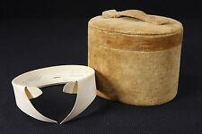 Velvet-Covered Antique Collar Dresser Storage Box W/ 1 Mens Arrow Shirt Collar