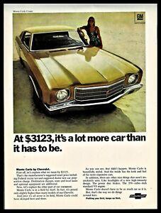 1970 CHEVROLET Monte Carlo Coupe Champagne or Autumn Gold Classic Car Photo AD