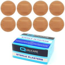 100x STERILE SPOT PLASTERS Round Small Washproof First Aid Cut Wound Protection