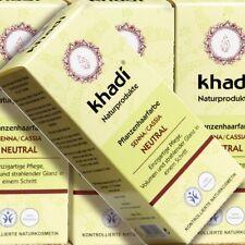 Khadi Pflanzenhaarfarbe Senna Cassia 100g Naturkosmetik zertifiziert farblos bio