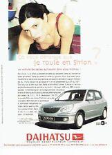 Publicité Advertising 087  2003  Daihatsu  la Sirion