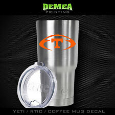 "Tennessee Vols Football - 3"" DECAL/STICKER for Yeti/Rtic//Tumbler/Coffee/Wine"
