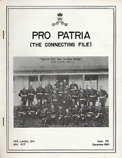 ROYAL CANADIAN REGIMENT: PRO PATRIA: December 1984 Regimental Journal Issue 56