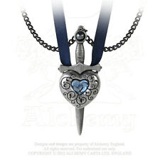 Alchemy Gothic Love is King Removable Sword in Heart His & Her Necklace Set
