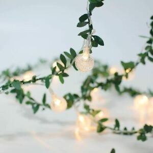 20 LED Leaves Cherry blossoms Fairy String Lights Garden Lamp Party Home Decor A
